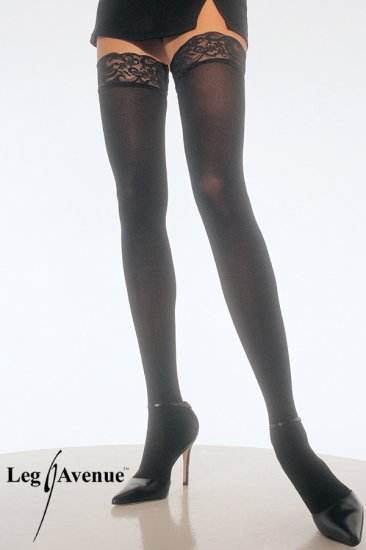 Leg Avenue Opaque Thigh Highs with Lace Top!