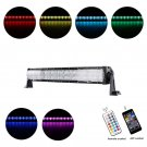 CROSS-2 SERIES 22 INCH 120W RGB CURVED COMBO BEAM LED LIGHT BAR (RGB CROSS-STYLE DRL)