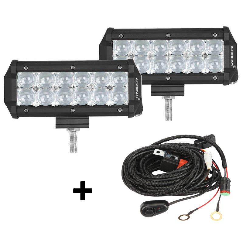 (2pcs/set) 7 inch 36W CREE Spot Beam Offroad Truck LED Light Bar (5D Projector Lens)