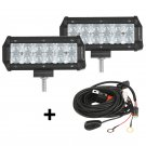 (2pcs/set) 7 inch 36W CREE Spot Beam Offroad Truck LED Light Bar (5D Projector Lens)