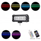 Cross-2 Series 7 inch 36W RGB Straight Combo Beam LED Light Bar (RGB Cross-style DRL)
