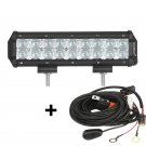 9 inch 54W CREE Spot Beam Dual Row Offroad Truck LED Light Bar (5D Projector Lens)