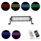 Cross-2 Series 12 inch 60W RGB Straight Combo Beam LED Light Bar (RGB Cross-style DRL)