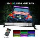 V-Series 32 inch 180W Combo Curved RGB LED Light Bar (5D Projector Lens)