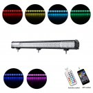 Cross-2 Series 34 inch 216W RGB Straight Combo Beam LED Light Bar (RGB Cross-style DRL)