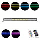 Cross-2 Series 42 inch 240W RGB Straight Combo Beam LED Light Bar (RGB Cross-style DRL)