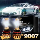 (2PCS/SET) F-16 SERIES 9007 HI-LO BEAM LED HEADLIGHT CONVERSION BULB