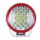 9 inch 111W CREE Round Flood & Spot LED Driving Light (Red Bezel)