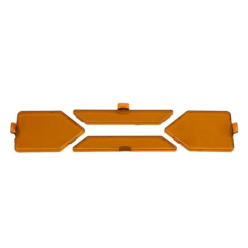 (4pcs/set)Detachable Spot Beam Amber Filters for X Series LED Light Bar