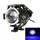 3.5 INCH CREE-U7 BLACK MOTORCYCLE SPOTLIGHT LED DRIVING LIGHT WITH DRL FUNCTION (WHITE+ BLUE LIGHT)