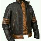 Leather slim fit jacket