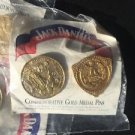 JACK DANIELS Discontinued 1904 & 1914 Gold Medal Commemorative Pins