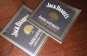 Jack Daniels Limited Edition Discontinued American Forest Bottle Tag