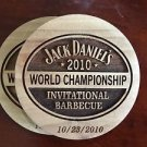 JACK DANIELS 2010 World Championship BBQ Barrelwood Coaster - 10/23/2010
