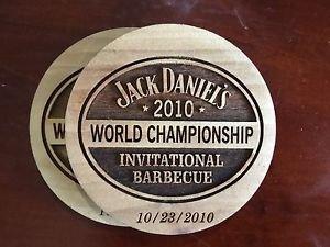 JACK DANIELS 2010 World Championship BBQ Barrelwood Coaster - 10/23/2010