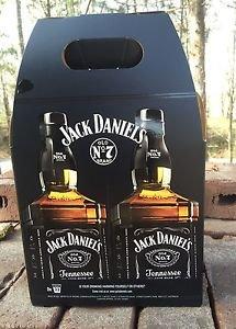JACK DANIELS Limited Edition Liter Twin Pack Bottle Carrier - Jasper Newton 2