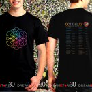 Coldplay Rock Band A Head Full Of Dream World Tour 2017 Black Concert T Shirt S,M,L,XL,2XL,3XL Tee
