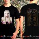 Lady Gaga Joanne World Tour 2017 Black Concert T Shirt Size S,M,L,XL,2XL,3XL Tee