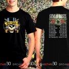 Guns N Roses World Tour 2017 Black Concert T Shirt Size S to 3XL Tee GNR3