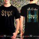 STYX United We Rock Tour 2017 Black Concert T Shirt Size S to 3XL Tee Styx3