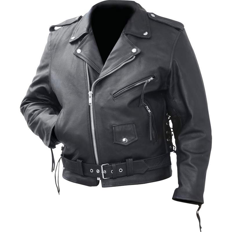 Rocky Mountain Hides� Solid Genuine Cowhide Leather Classic Motorcycle Jacket