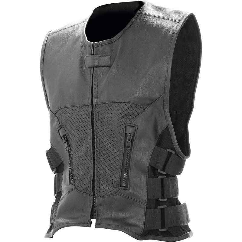Rocky Mountain Hides� Solid Genuine Buffalo Leather Vest