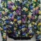 Nordstrom Top Shop Women's Floral Jacket Medium Size 100% Cotton Lining Acetate