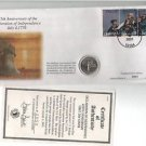225th ANNIVERSARY DECLARATION INDEPENDENCE STAMPS QUARTER ENVELOPE BOX COA