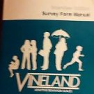 Vineland Adaptive Behavior Scales Interview Edition Survey Form Manual 1984