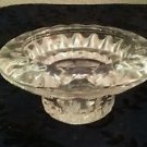 "Vintage Clear Lead Cut Glass Candle Holder 4"" x 1 1/2"""