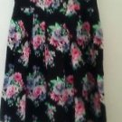 No Boundaries Sweetheart Neckline Black Halter Dress Red Roses 100% Cotton L 11