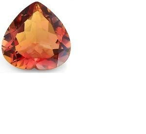 3 1/2 Carat Azotic Topaz Magical Red Rainbow Loose Gemstone 10mm