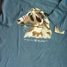Vintage Native American T-Shirt/100%Cotton/Blue/XL/1999/Creek/Cherokee/War Pony