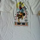 Vintage Native American T-Shirt/100%Cotton/White/XL/1997/Apache Fire Dancer