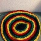 """African Rasta Hand Knitted Tam Reggae Kufi Hat Cap Red Yellow Green Black 22"""""""