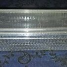 "Vintage Clear Plastic Butter Dish 7"" x 3"" x 2"""