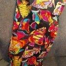"Hawaiian Wrap Fish Print Beach Swimsuit Cover Up 100% Cotton 68"" x 41"" Lava Lava"
