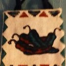 """Chili Peppers Purse Cell Phone Coin Kids Western 100% Cotton Cosmetics Toys 5"""""""