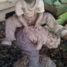 """Jaimy Lawn Ornament Boy Jumping Over Boy Sculpture Resin Statue Outdoor 16"""""""
