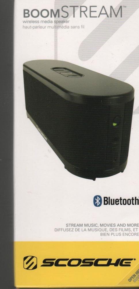Scosche Boom Stream Bluetooth Media Speaker  and Car Kit in Black