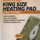 CVS Pharmacy King Size Heating Pad 3 Heat Settings Soft Polyester Cover Washable