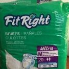 FIT RIGHT Underwear, Medium Heavy Absorbentcy, Briefs 16 Count Open Package