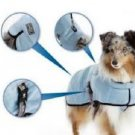 Hurtta Pet Large Dog Cooling Coat, 28-Inch Length, 28-Inch Neck, 32-42-Inch Blue