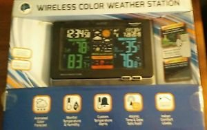 Wireless Color Weather Station La Crosse Technology Monitor Temperature Humidity
