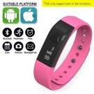 Pink Fitness Tracker Bluetooth Smart Watch Sports Wristband