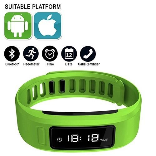 Green Smartband Wristband Bluetooth Intelligent IOS ANDROID