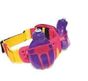 Fuelbelt 2 Bottle Outdoor Revenge Hydration Belt Purple/Yellow/Pink