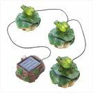Solar Frog Trio Garden De'cor