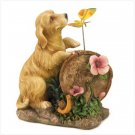 New!  Puppy Love Solar Light-Up Statue