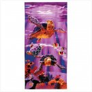 Sea Turtle Print Beach Towel